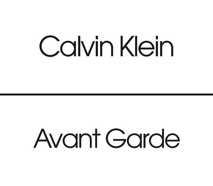 Calvin Klein fonts