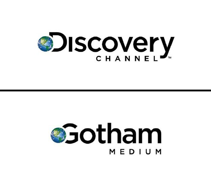 discovery chanel fonts