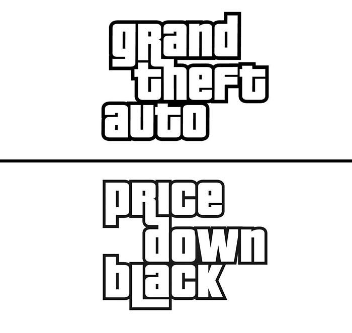 grand theft auto fonts